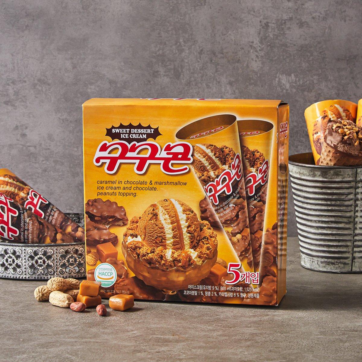 [롯데푸드] 구구콘 아이스크림 5개입 800ml (160ml*5입)