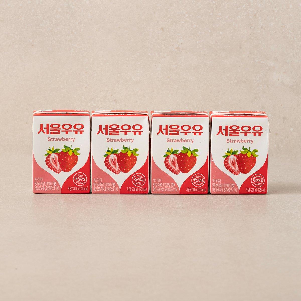 [서울우유] 딸기 멸균 (200ml*4개)
