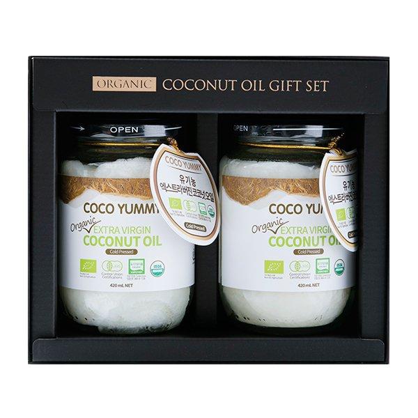 [코코야미] 유기농 코코넛 오일 선물세트 2호 (420mlx2)