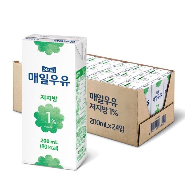★쓱데이 기념 10%다운로드 쿠폰★ [매일유업] 매일우유 멸균 저지방 1% 200ml 24팩
