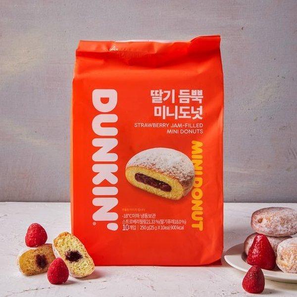던킨 딸기 듬뿍 미니도넛 (10개입)