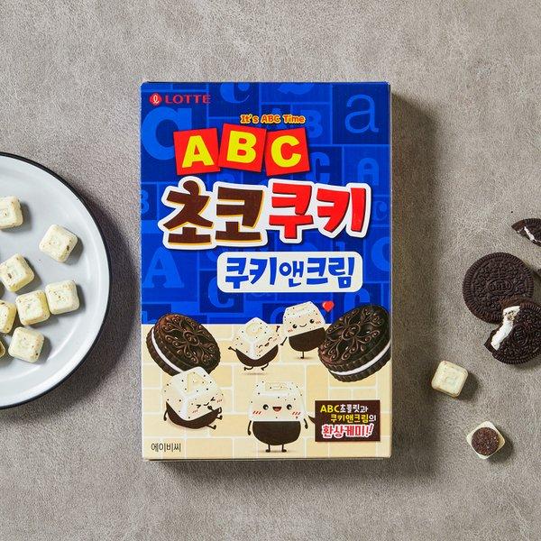 롯데 ABC초코쿠키 쿠키앤크림130g