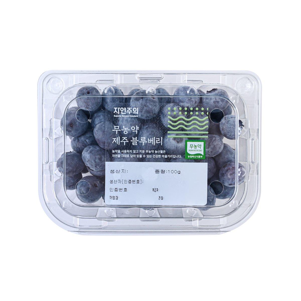[국내산] 무농약 블루베리 100g/팩