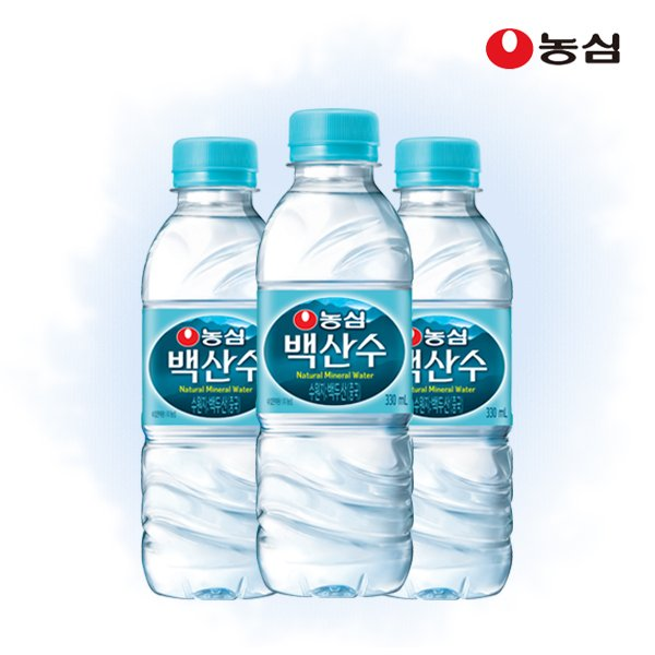 [무료배송]농심 백산수 330ml 20병 생수