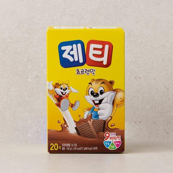 [제티] 초코렛맛 스틱 (17g20입)