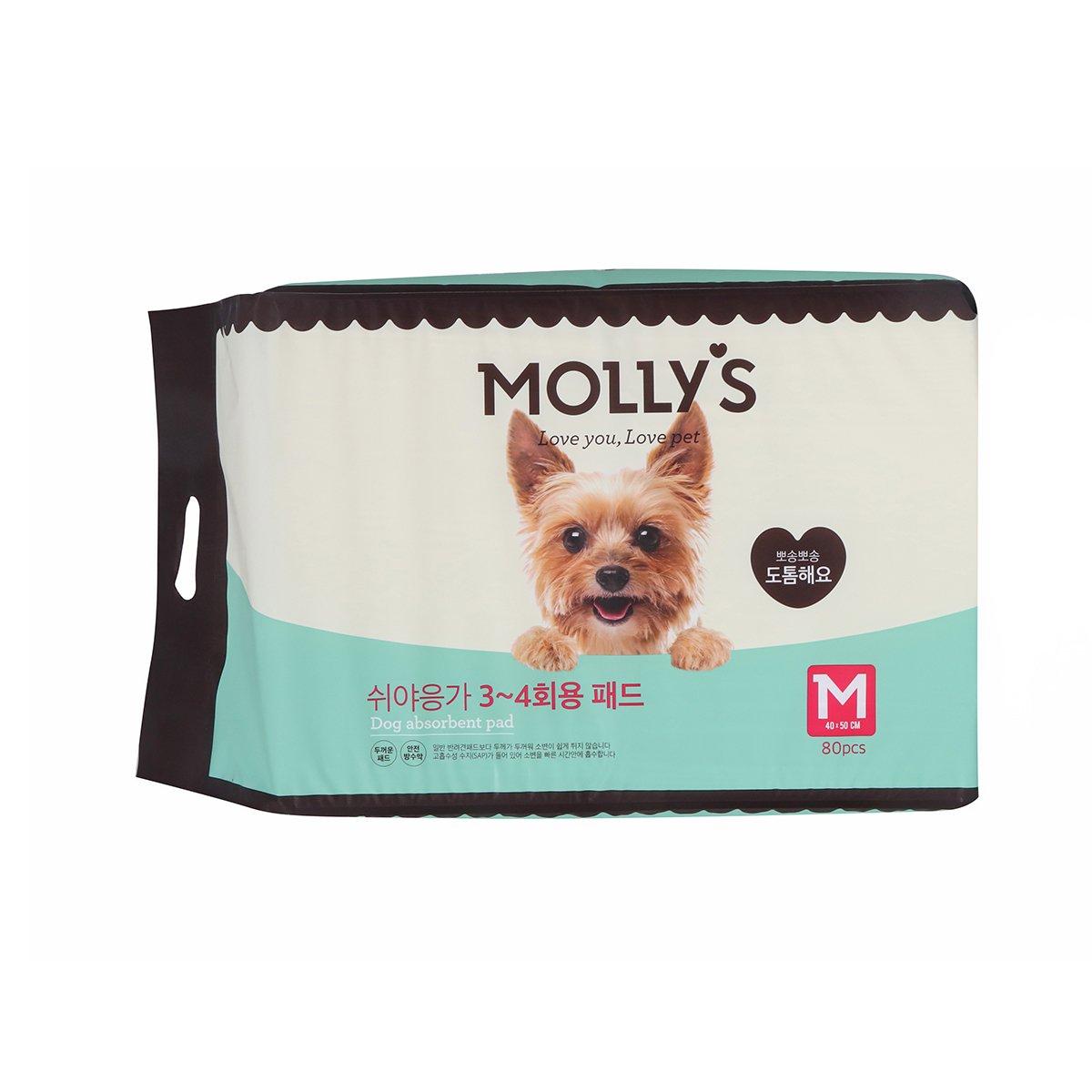 [몰리스]쉬야응가 3~4회용 패드(M) 80매