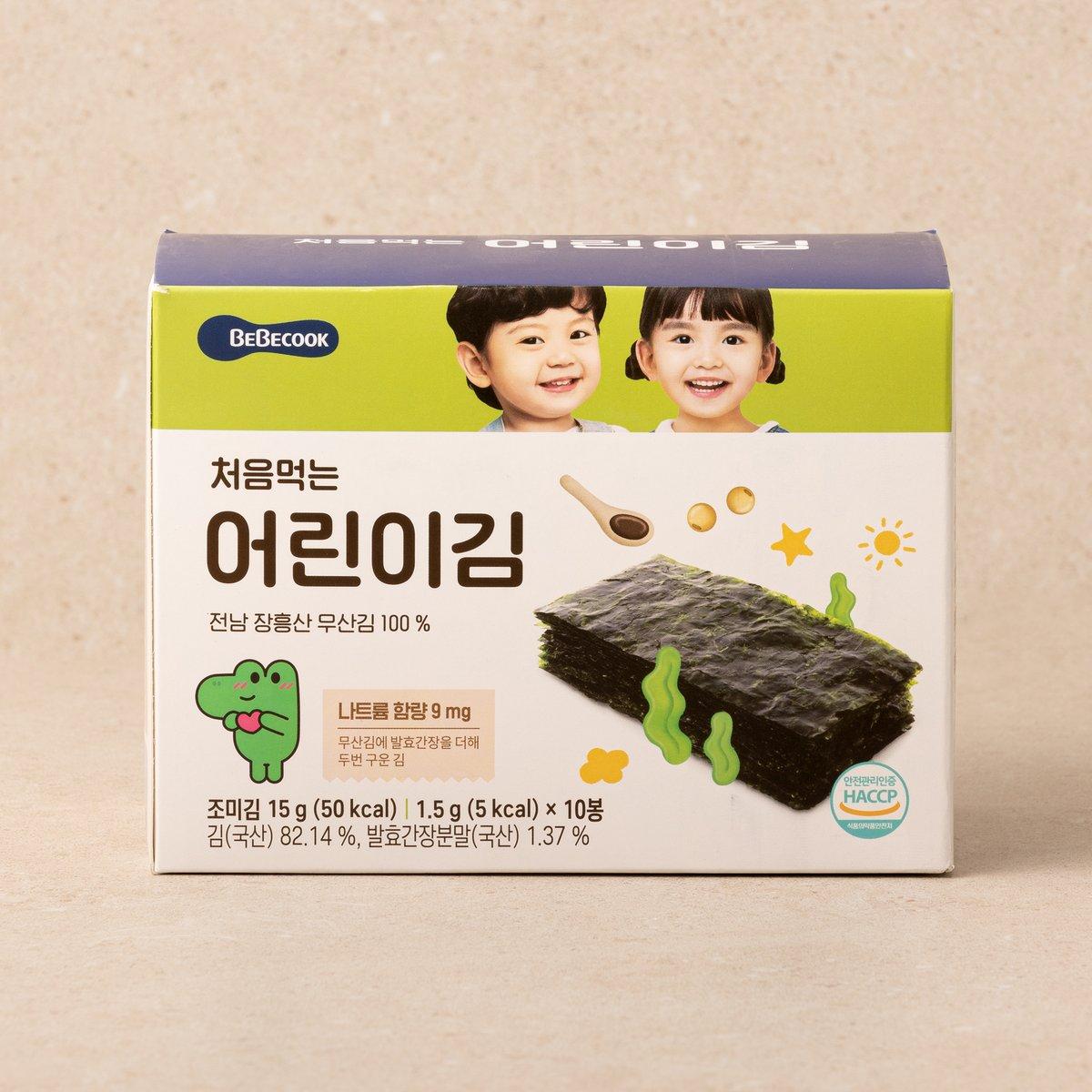 처음 먹는 어린이 김 오리지널 1BOX (10봉)