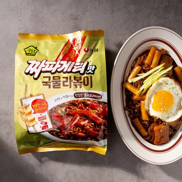 농심 쿡탐 짜파게티맛 국물떡볶이 380g