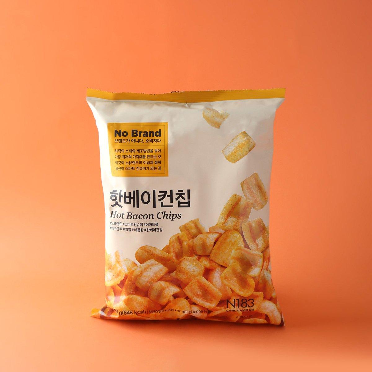 [노브랜드] 핫 베이컨 칩 124g