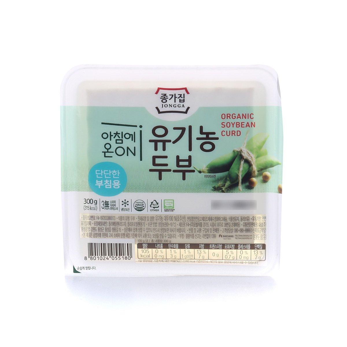 [종가집] 유기농 부침용두부 300g