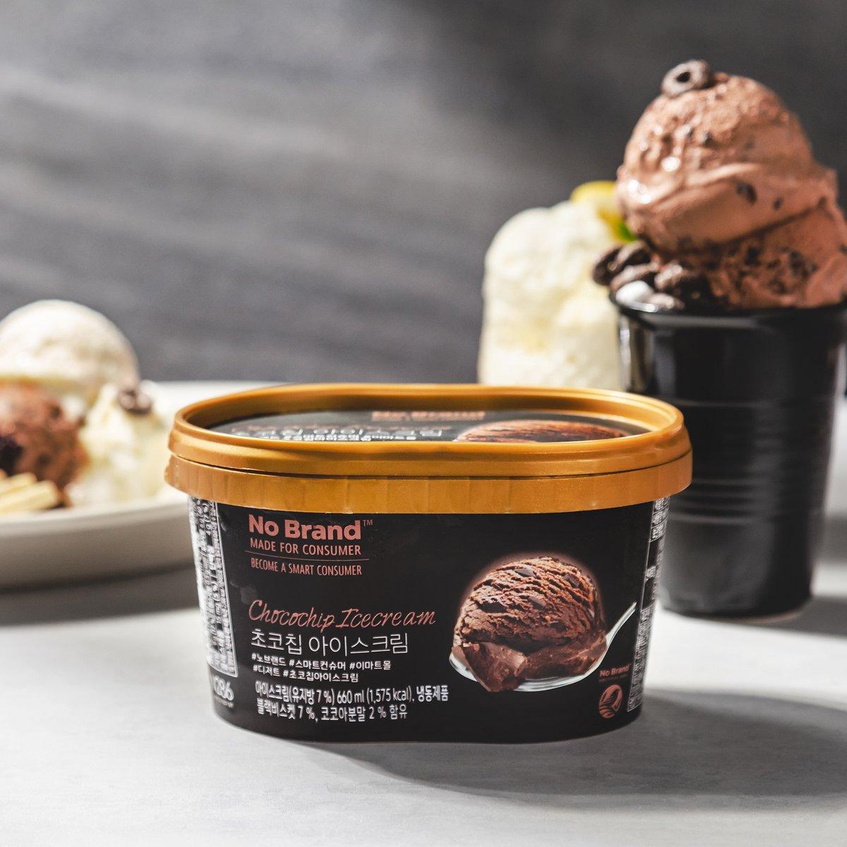 [노브랜드] 초코 칩 아이스 크림 660ml