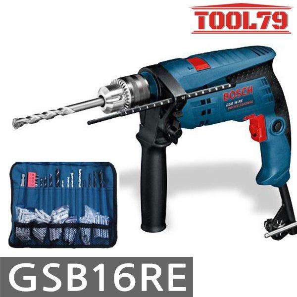 공구친구 보쉬 GSB16RE 전기 해머드릴 750W 파우치 100PCS