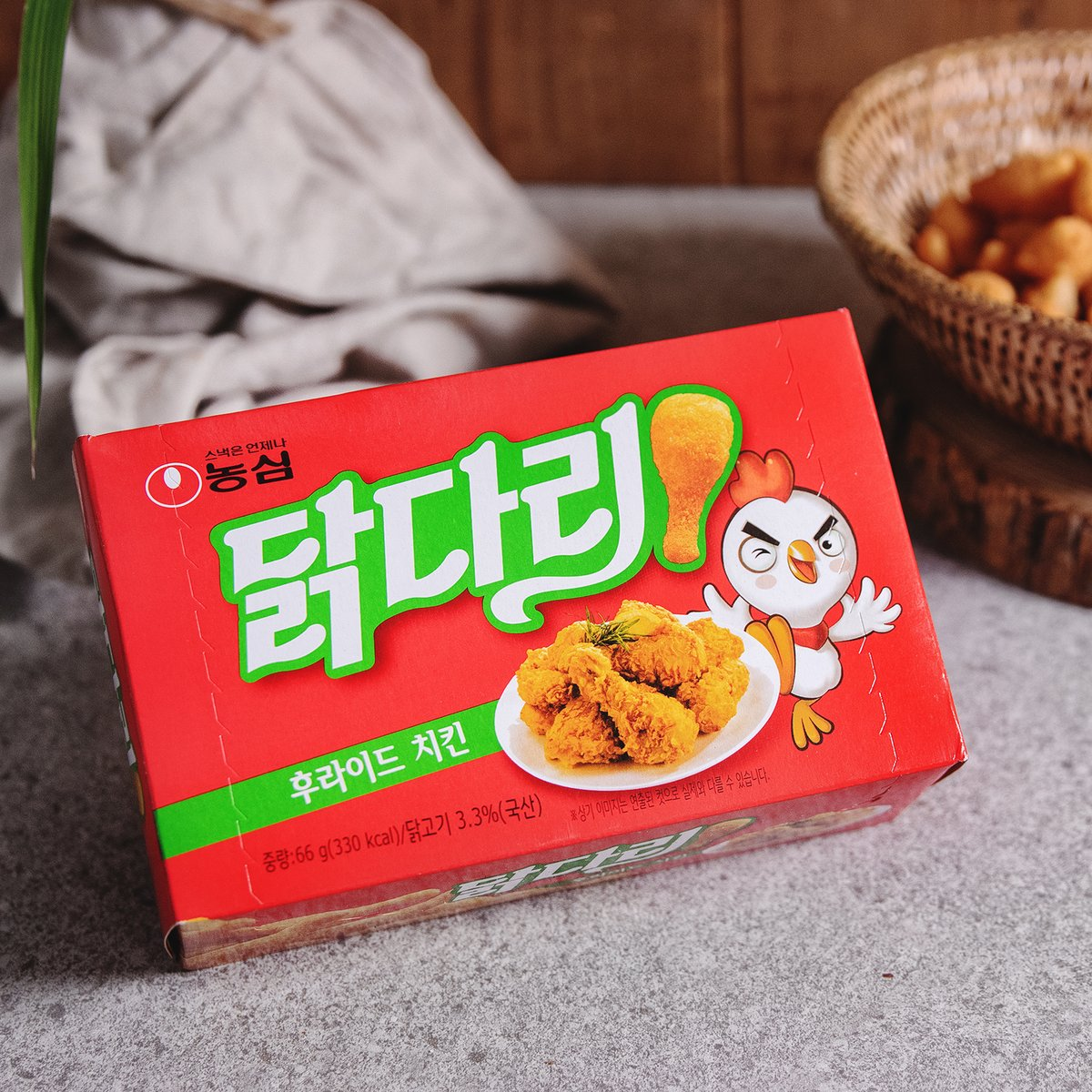 [농심] 닭다리 후라이드치킨맛 66g